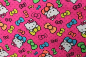 Hello Kitty 5 Print Cotton Fabric 110cm /110cm Width By The Yard