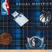 NBA Fleece Dallas Mavericks Blue Fabric