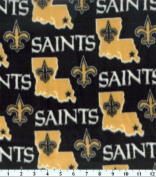 NFL New Orleans Saints Football Fleece Fabric Print By the Yard