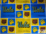 NCAA COLLEGE PRINT COTTON FABRIC - UCLA Bruins - 110cm WIDTH SOLD BY THE YARD