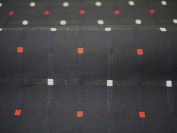 Cotton woven fabric pattern Kurume colour : Red and white dot