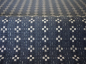 Cotton woven fabric pattern Kurume colour : Chequered blue