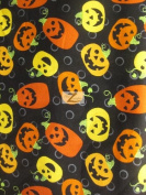 HALLOWEEN PRINT 100% COTTON FABRIC - Happy Pumpkins - 110cm WIDTH