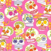 pink Alexander Henry fabric decorated skulls