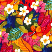 colourful flowers and leaves fabric by Alexander Henry