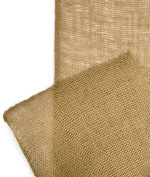 23cm Natural Burlap Ribbon - 10 Yards