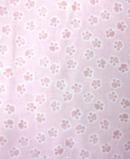 Cat Fabric - Mighty Jungle - Pawprints - Pink - FLANNEL