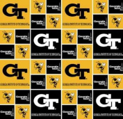 Georgia Tech By Sykel - 100% Cotton 110cm Wide By the Yard