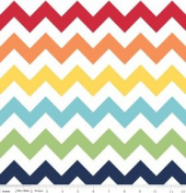 Chevron Stripe Rainbow Flannel Fabric SKU F320-01