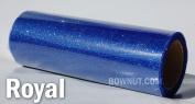 Kel-Toy Sparkle Lace Fabric, 15cm by 10-Yard, Royal