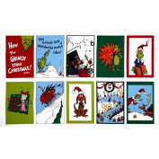 How The Grinch Stole Christmas Flannel Panel Celebration Red/Lime Fabric