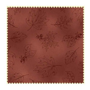 Fields of Gold Fabric Maywood Studio ~ Rustic Barn Red with Leaf Print (MAS16017-R)