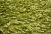 Lime Green, Taffeta Fabric 3d with Fancy Ruffle Design Taffeta Drop
