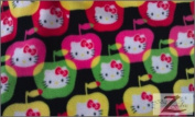 HELLO KITTY PRINT POLAR FLEECE FABRIC - Coloured Apples - 150cm WIDTH SOLD BTY ANTI PILL