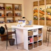 Venture Horizon Project Centre With 2 Bookcases - White