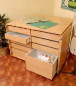 Kangaroo Kabinets K7906 Dingo, Nine Drawer Sewing Storage Cabinent, Beech
