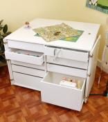 Kangaroo Kabinets K7911 Dingo, Nine Drawer Sewing Storage Cabinent, Ash White