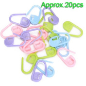20Pcs Knitting Crochet Locking Stitch Markers / Can Also Be Used as A Nappy Pin on A New Baby Greeting Card