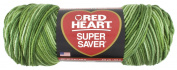 Red Heart E300.0629 Super Saver Economy Yarn, Green Tone