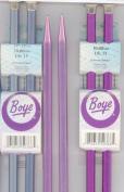 Boyes 14 Aluminium Single Point Knitting Needles, Size 15