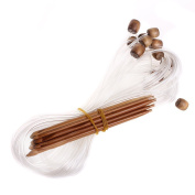 Kobwa(TM) Tunisian Circular Carbonised Bamboo Crochet Hooks/Knitting Needles +Free Keyring