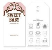 Knitting Care Tags - Sweet Baby Pink