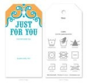 Knitting Care Tags - Just for You Orange