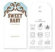 Knitting Care Tags - Sweet Baby Blue