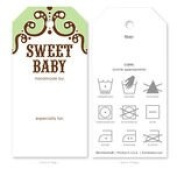 Knitting Care Tags - Sweet Baby Green
