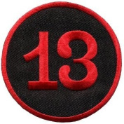 Lucky 13 Thirteen Biker Retro Emo Punk Rockabilly Applique Iron-on Patch
