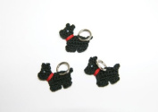 Lantern Moon Handcrafted Scotty Dog Knitting Stitch Markers