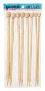 Darice Bamboo Knitting Needles 7, 9, 10, 12