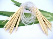 Ostart 18 Sizes 24'' (60cm) Circular Bamboo Knitting Needles Set Kit