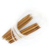 18 Sizes 2.0mm-10.0mm 80cm Bamboo Circular Knitting Needles / Anti-Resistance Bamboo Needles with Smoothe Finish