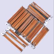 Ostart 5 Sets of 15 Sizes 8'' (20cm) Double Pointed Carbonised Bamboo Knitting Kits Needles Set
