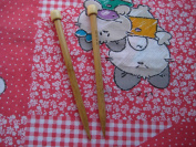 One pair of BrilliantKnitting (BR brand) 9 inch single pointed bamboo knitting needle US 17