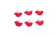 Lantern Moon Handcrafted Cardinal Knitting Stitch Markers