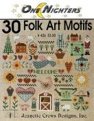 30 Folk Art Motifs - Cross Stitch Pattern