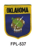 7.6cm - 1.3cm State Flag Embroidered Patch (Shield) Oklahoma