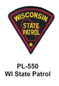 7.6cm State Police Embroidered Patch WY Hwy Patrol