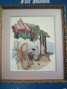 DRAGONSLAYER & FAIR MAIDEN CROSS STITCH #BK#83 FROM JEANETTE CREWS DESIGNS