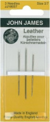 John James Leather Needles Assorted Sizes 3/7 3ct