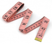 Flexible Tailor Sewing Cloth Ruler Tape Measure 60 Inch 150cm Pink