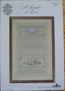 A Sampler of Love, Counted Cross Stitch Leaflet No. 20, Designs by Gloria & Pat