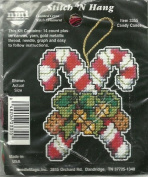 Candy Canes Stitch 'n Hang Counted Cross Stitch Kit #3355