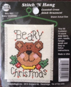 Beary Christmas Stitch 'N Hang Counted Cross Stitch Kit #3921