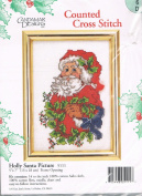 Holly Santa Picture for Cross Stitch