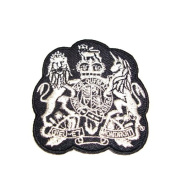 Iron on Patch Beautiful Silver Embroidered Sew Patch