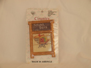 "COUNTRY TRADITIONAL CROSS STITCH KIT ""SCHOOL DAYS"" MINI FRAME"