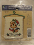 Stitch 'N Hang Counted Cross Stitch Kit - Finished Size 7.6cm X 10cm - Item 4445 - Jingle Bear